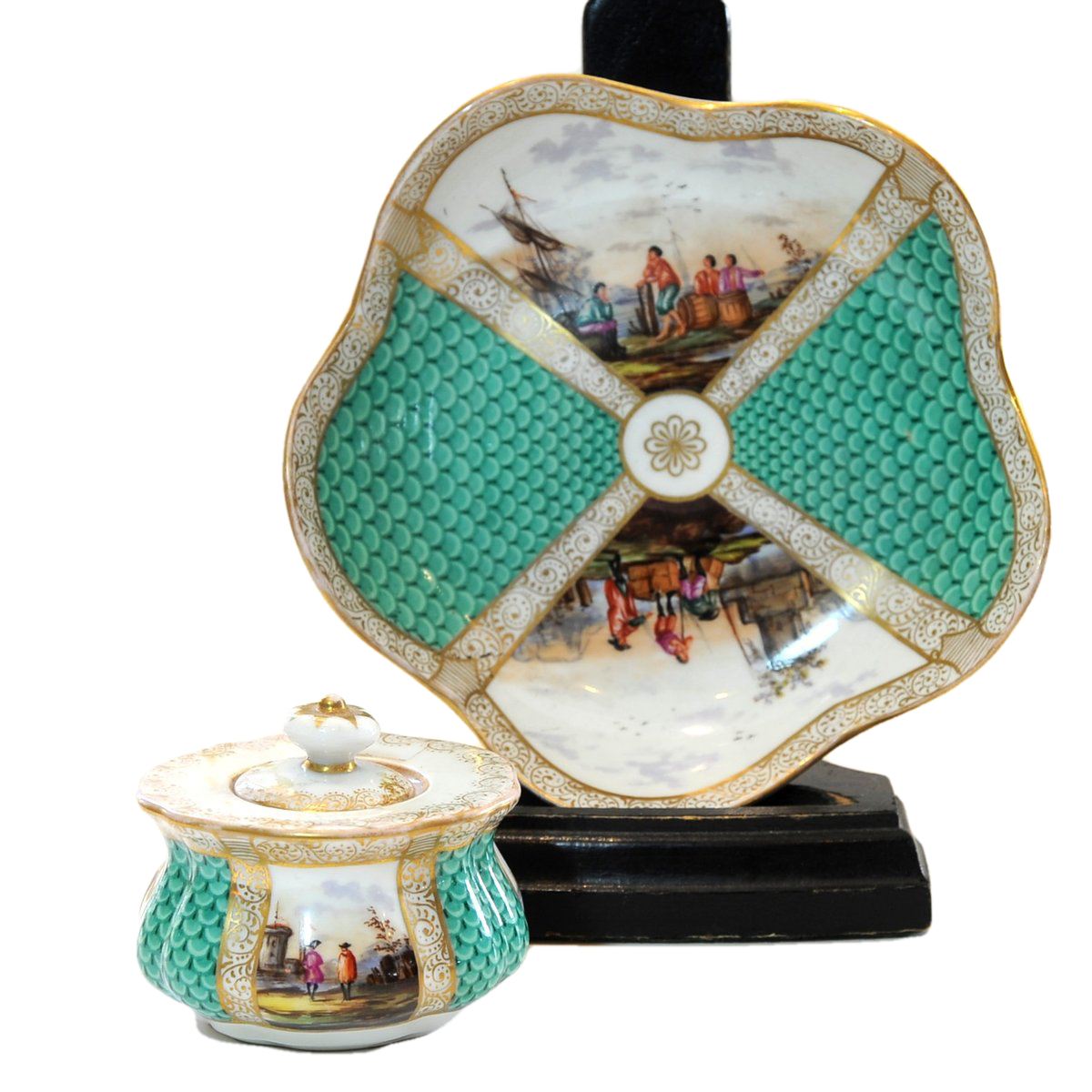 Meissen Porcelain Ink Well, German