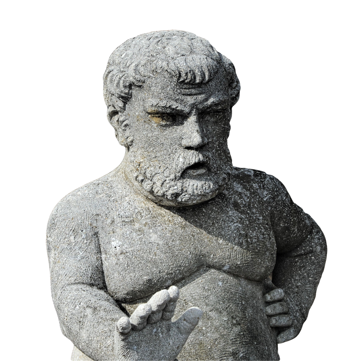 Limestone Sculpture of Medici's Dwarf Morgante in the Manner of Valerio Cioli