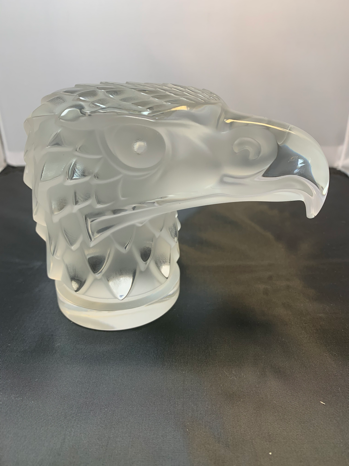 Vintage Lalique Eagles Head Paperweight Signed