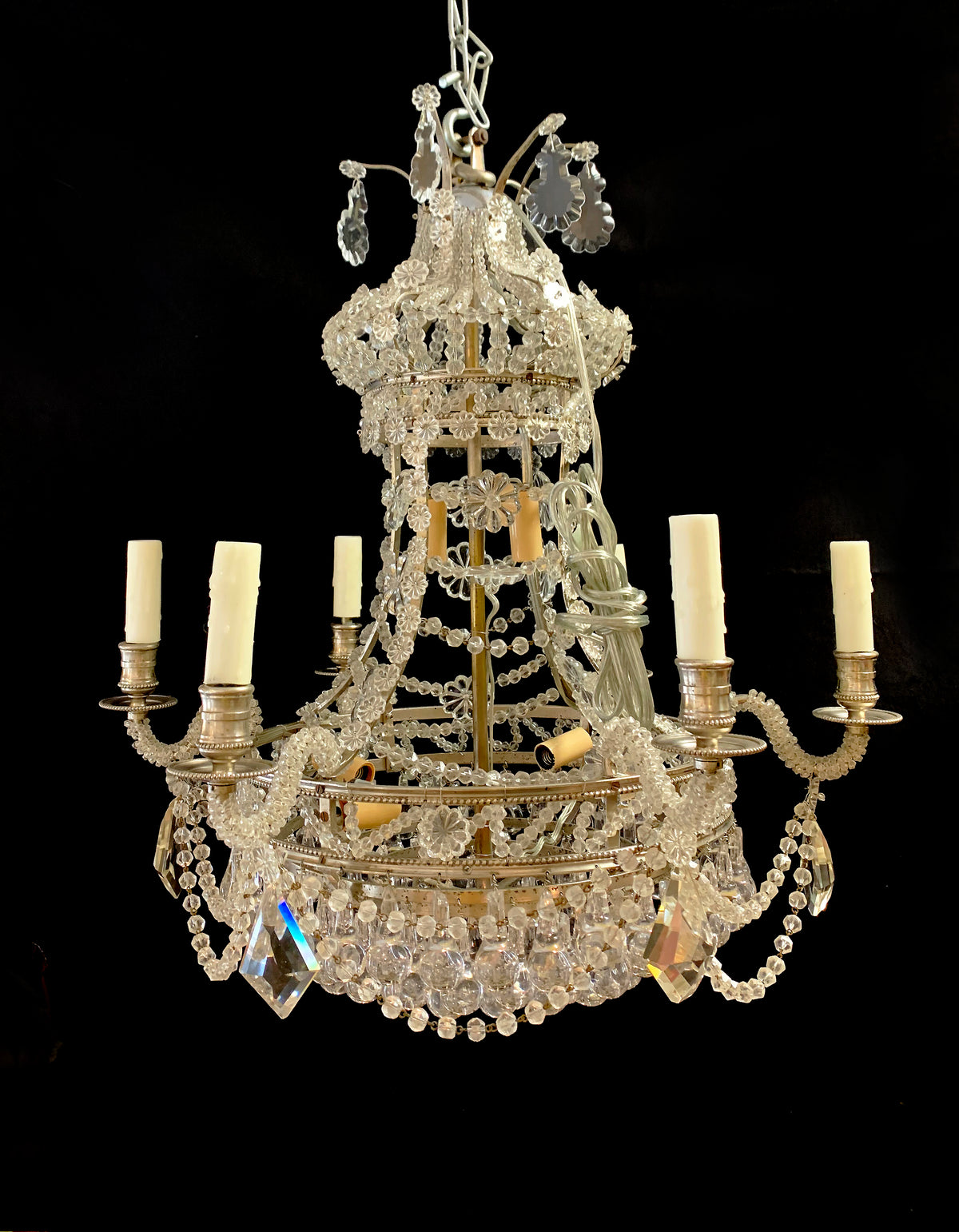 Highly Ornate  French Crystal Chandelier