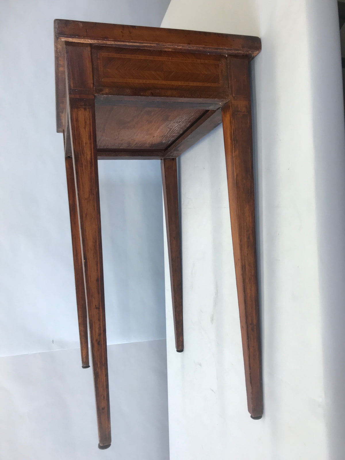 Italian Inlaid Banded Mahogany Side Table