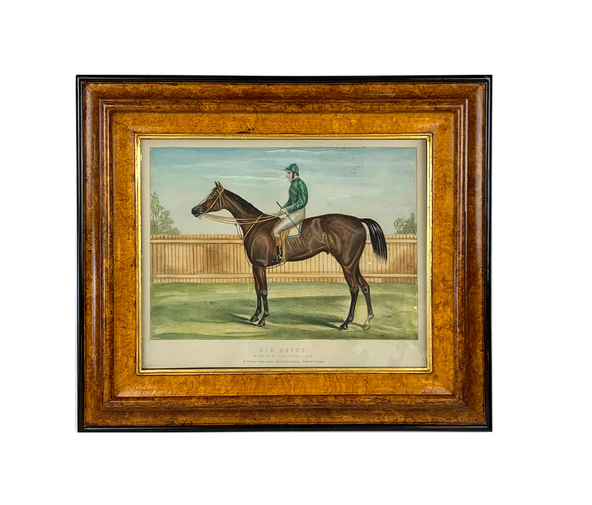 A Pair of  Horse Drawings Framed