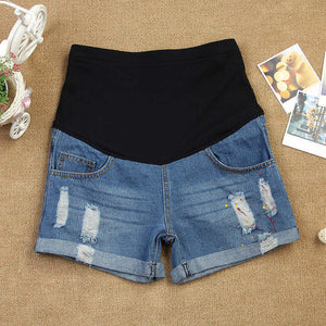 Maternity Ripped Short Jeans