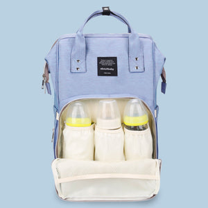 Mummy Maternity Nappy Feeding-Bottle Multi-Purpose Backpack