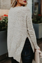 Asymmetric Hem Side Vented  Assorted Colors Sweaters