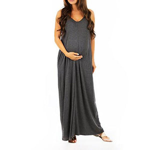 Maternity V-Neck Cami Maxi Dress