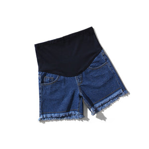 Maternity Abdomen Supportive Denim Shorts