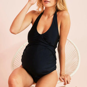 Draped Maternity Swimsuit