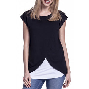 Maternity Overlap Nursing & Feeding Tank Top