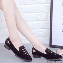 Casual Hollow-Out Faux Suede Low Heel Shoes