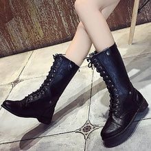 Autumn And Winter Lace Martin Boots Motorcycle Boots