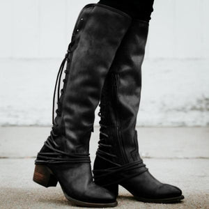 Fashion Winter Blinding Coarse Heel Boots