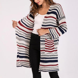 Stripe Long Sleeves Cardigan