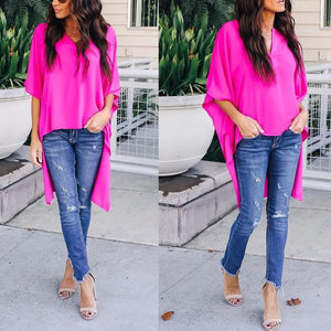 🔥Flash Sale Elegant Chic Irregular V-Neck Top