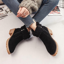 Plain  High Heeled  Velvet  Round Toe  Casual Outdoor  Short High Heels Boots
