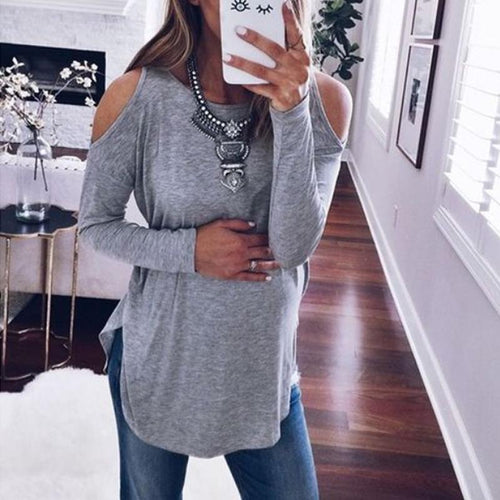 Round Neck And Long Sleeve T-Shirt