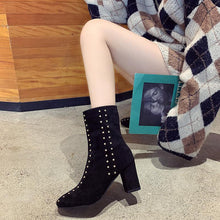 Fashion Suede High Heel Boots