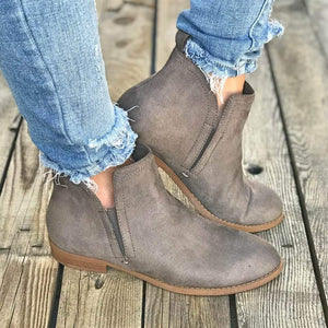 Fashion Suede Low Heel Ankle Boots
