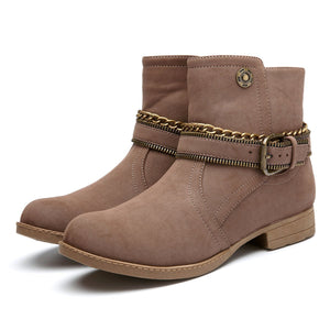 Fashion British Style Retro Cotton Boots