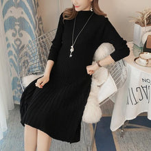 Autumn And Winter New Stretch Slim Knit Maternity Dress