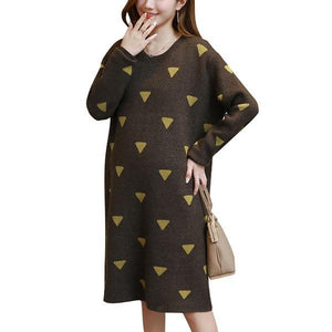 Autumn And Winder  New Fashion Long Maternity Dress