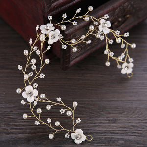 Maternity Pure White Crown Wreath Headband For Photography