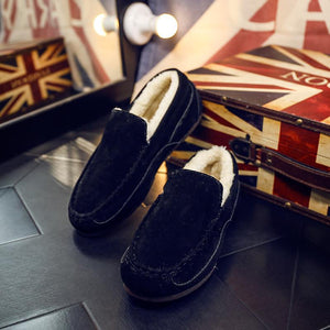 Winter Keep Warm Plain Cotton Padded Loafer