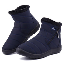 Snow Boots Female Tube Thick Plush Waterproof Side Zipper Cotton Boots