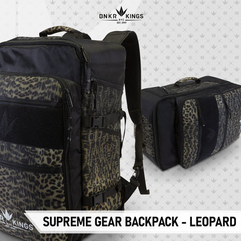 Bunkerkings Supreme Gear Backpack - Leopard - Kickstarter Reward