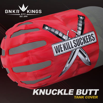 Bunker Kings - Knuckle Butt Tank Cover - WKS Knife - Red
