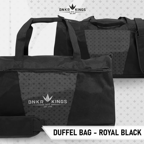 Bunkerkings Duffel Bag - Royal Black - Kickstarter Reward