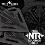 2 Bunkerkings NTR Replacement Fingers - CTRL/Spire III/IR/280 - Black