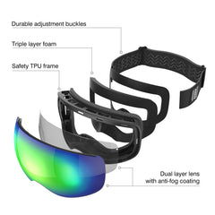Replace Lens Ski Goggles