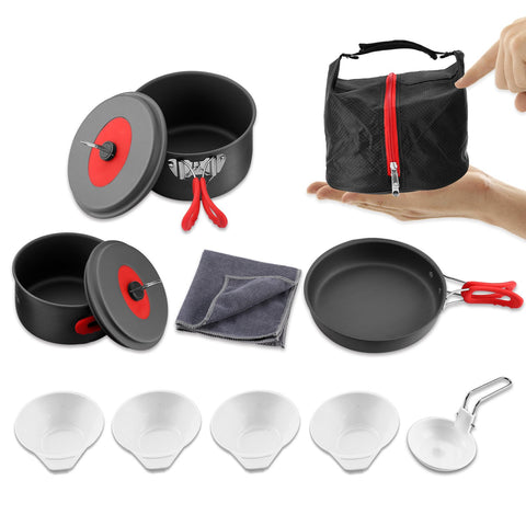 Camping Pots and Pans Set