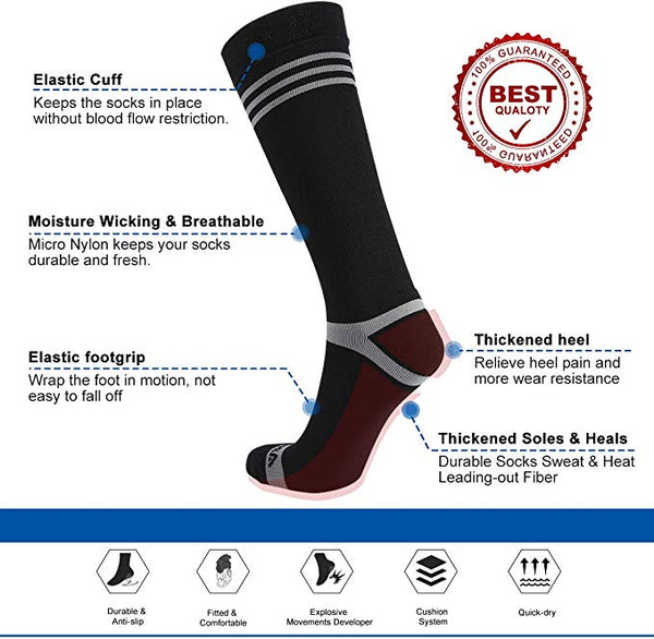 Andake Thermal Warm Winter Ski Socks   Snowboard Socks   Compression Running Socks