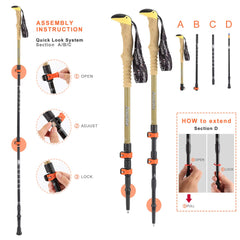 Carbon Trekking Pole 1PC