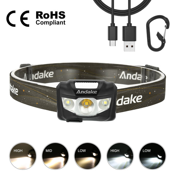 190LM LED Hiking Headlamp
