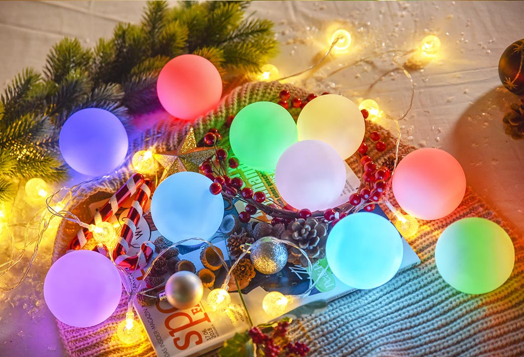 How to Decorate a Christmas Tree with DIY Hanging Ball Lights