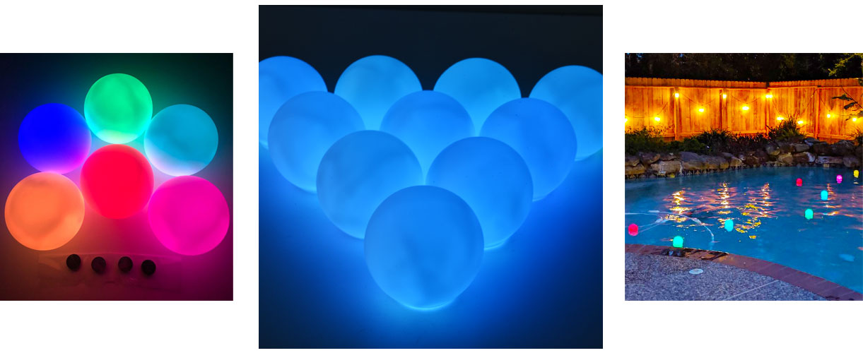 loftek led ball for events pool floating