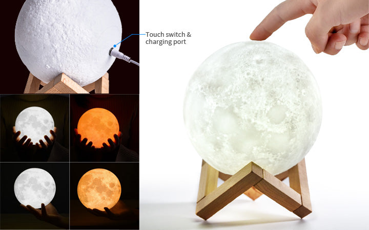 3D moon lamp switch