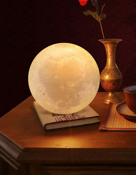 3d printed moon lamp for table decorating
