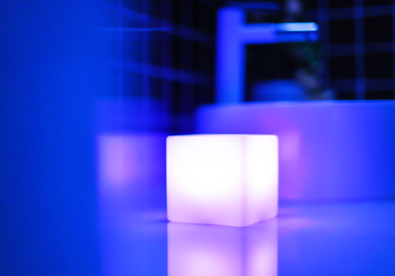 loftek led cube night lamp