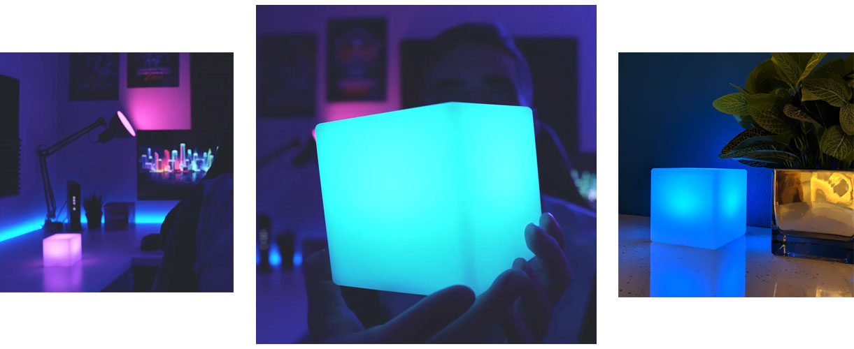 loftek led cube lamp for gaming room