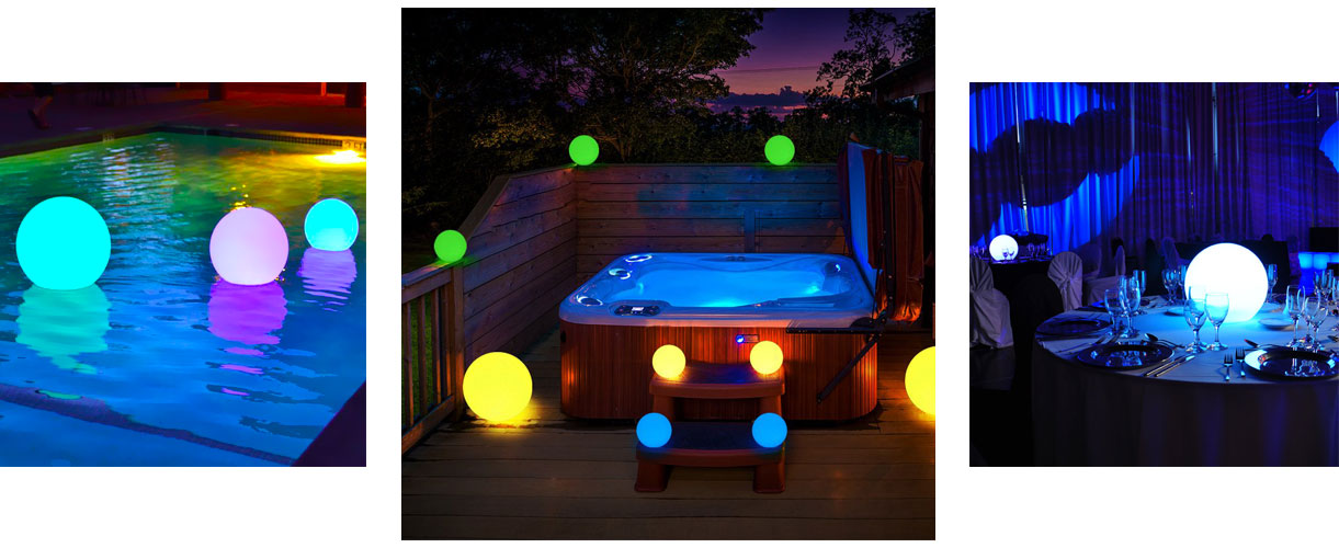loftek led mood sphere for pool party backyard
