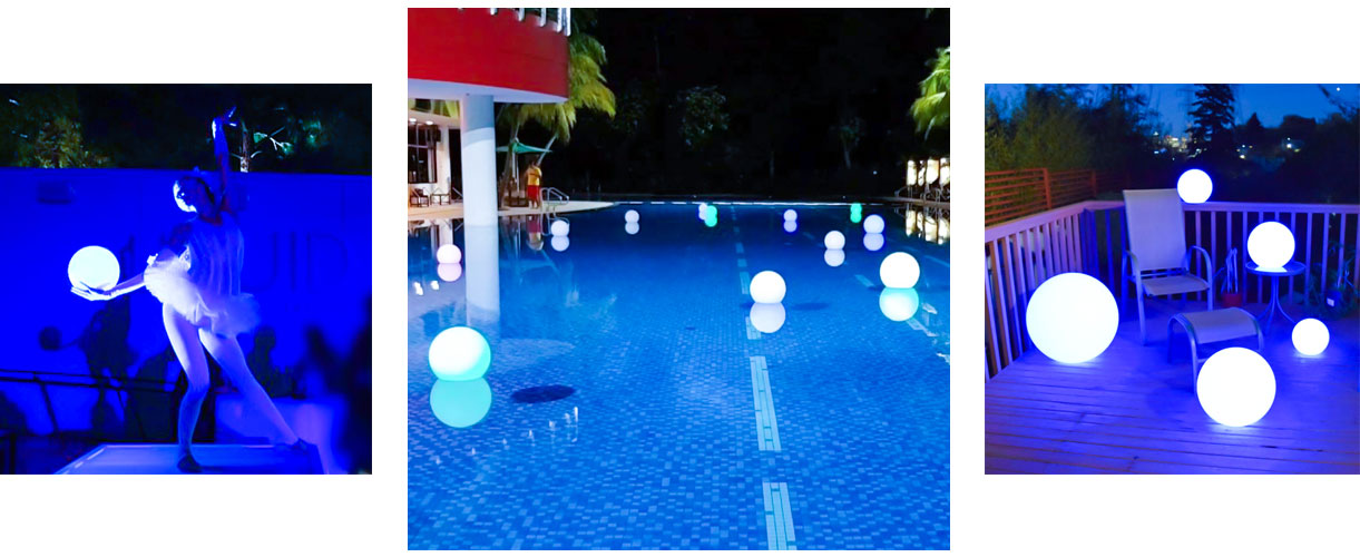 loftek led mood sphere for pool yard bedroom