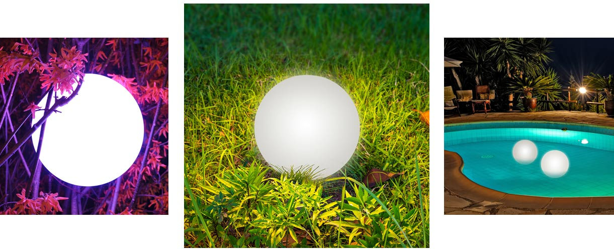 loftek led mood sphere for outdoor garden decor