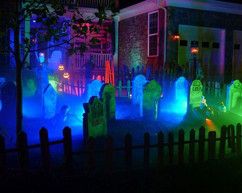Halloween-lighting-decor-for-graveyard