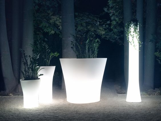 led glowing flowerpot for garden landscape decoration