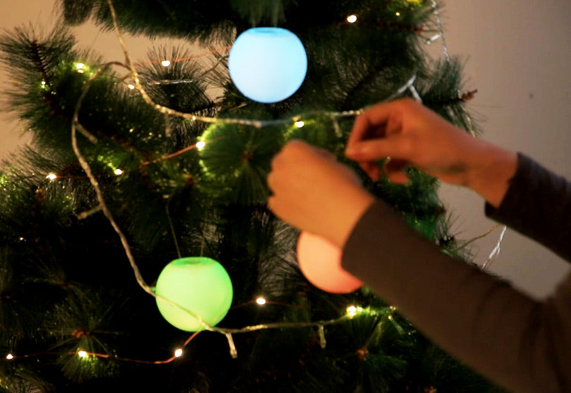 LOFTEK RGB LED ball light for Christmas decorations
