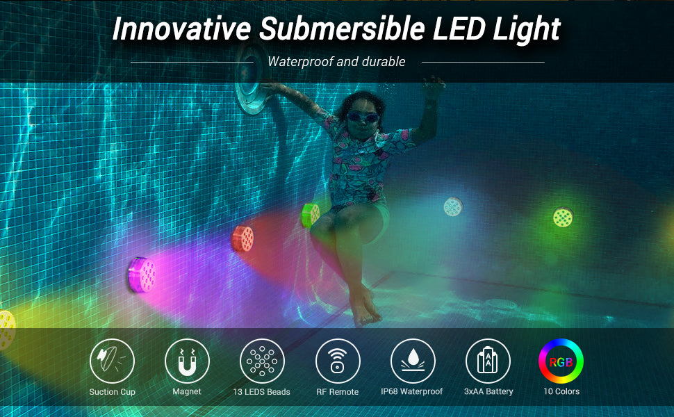 LOFTEK LED Submersible Light for underwater use